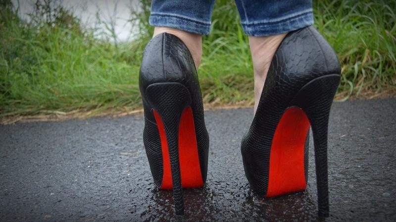 Sky high platform heels