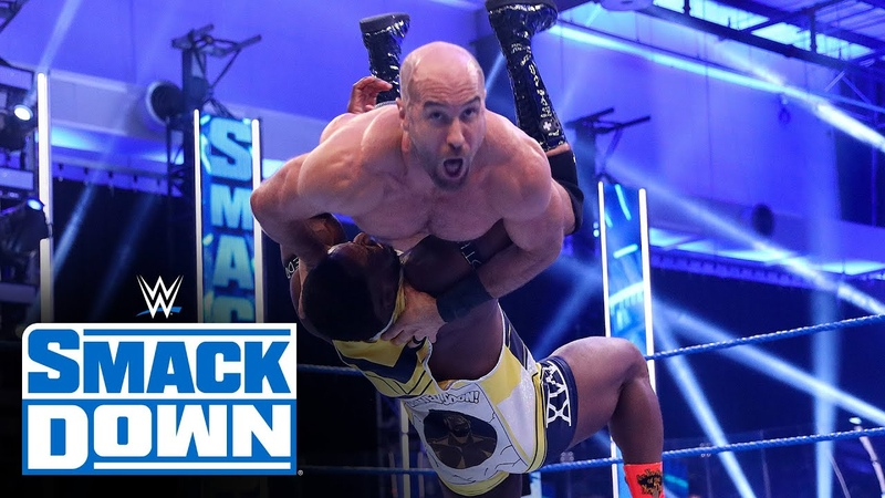 My1 The New Day vs Nakamura Cesaro SmackDown Tag Team Title Match SmackDown July 10 2020
