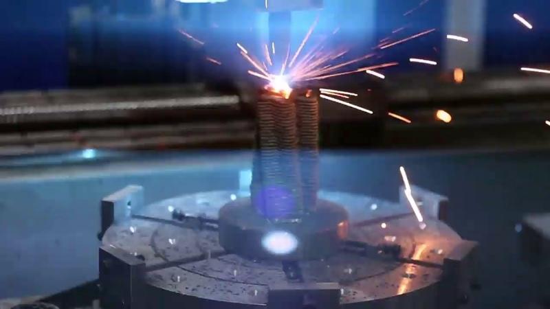 Аддитивно субтрактивно упрочняющая технология 3D печати крупногабаритных металлических изделий