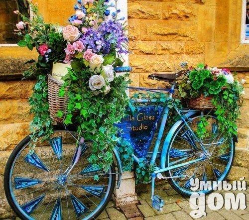 Велосипед-кашпо. Вторая жизнь старых вещей