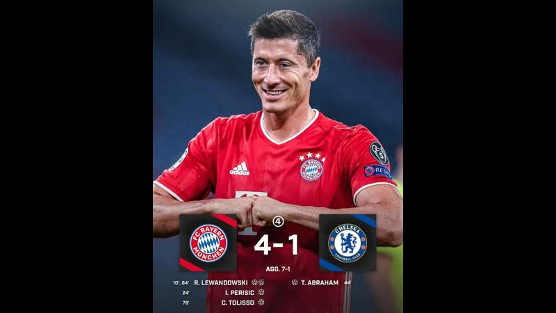 👍👍🇩🇪Бавария (7) 4 - 1 (1) 😭😭🏴Челси ( 🏆 🇪🇺 Европа Лига Чемпионов 2019-2020 18-Финала 2-Игра ) 9.08.2020