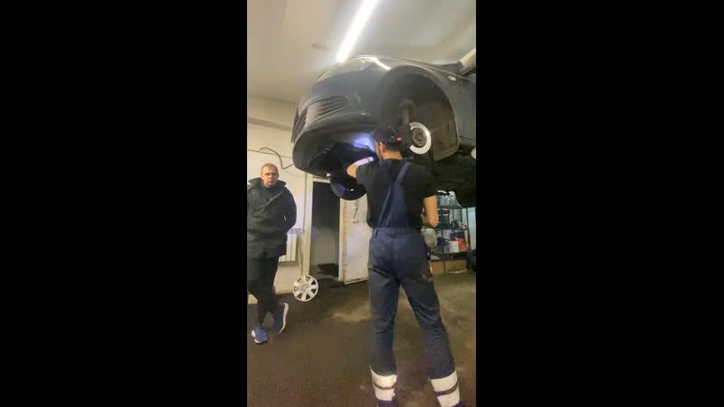 Замена сайлентблоков переднего рычага VW Polo Sedan