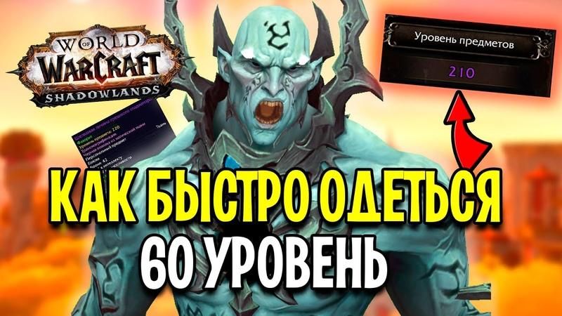 ГАЙД ДЛЯ НОВИЧКОВ Как БЫСТРО Одеть Персонажа в World of Warcraft Shadowlands 2021 Год!