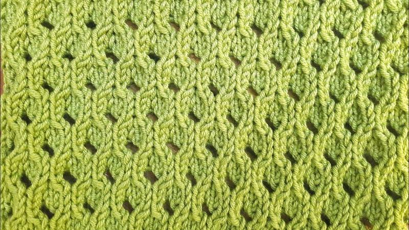Узор Ажурные соты спицами Лайфхак для быстрого вязания узора Openwork knit pattern