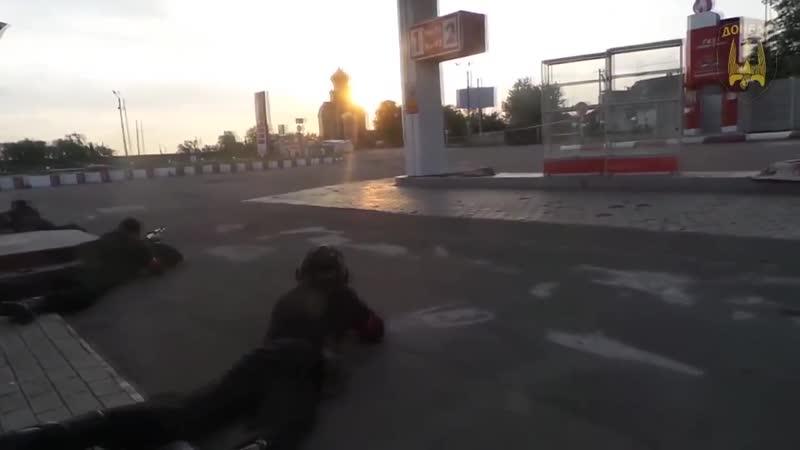 Бой нацистов батальона Донбасс под Карловкой 23.05.2014. Попали в засаду ДНР.