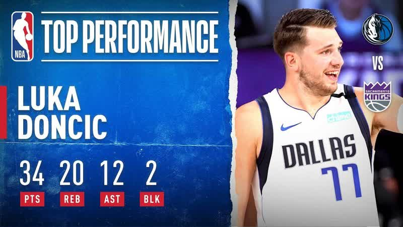Luka GOES OFF For 34 PTS 20 REB Career High 12 AST In OT W