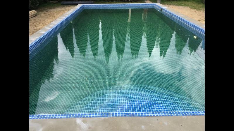 Строительство бассейна 8*4 м с перепадом глубин от 1 4 м до 2 м Отделка пленкой ПВХ