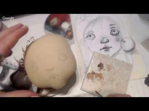 Часть 2. Мастер-класс Натальи Кондратюк рисуем лицо куколке.