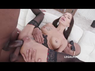 Legal Porno - Double Anal Creampie with Valentina Sierra Balls Deep Anal, Gapes, Creampie Swallow