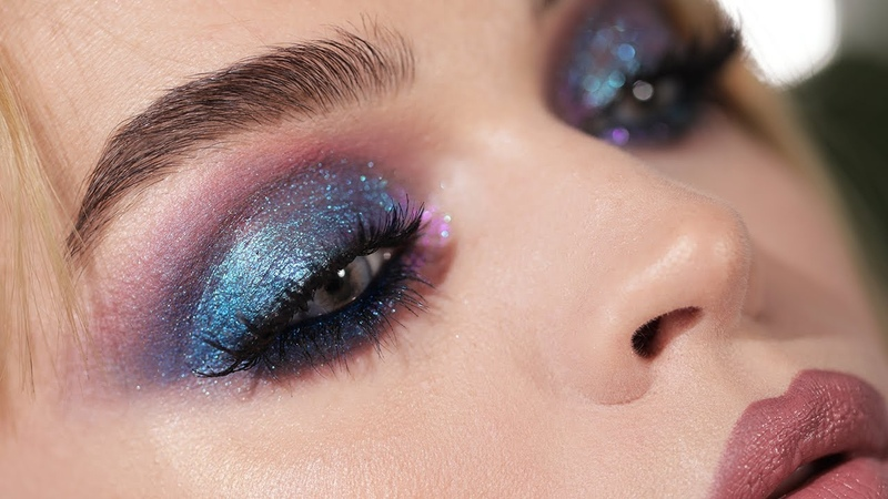 Blue Diamonds Duochrome blue purple smokey eyes