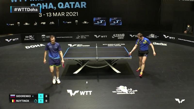 Vladimir Sidorenko vs Cedric Nuytinck   WTT Contender Doha 2021   Mens Singles   QUAL Highlights