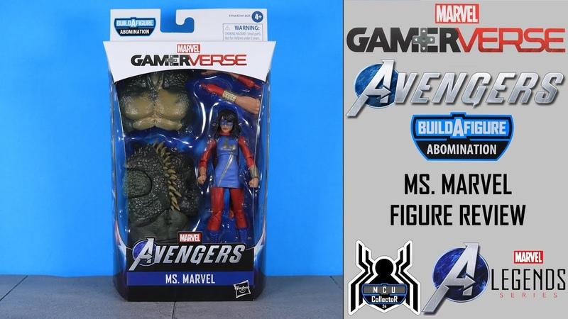 Marvel Legends MS MARVEL Avengers GamerVerse Abomination BAF Wave Figure Review