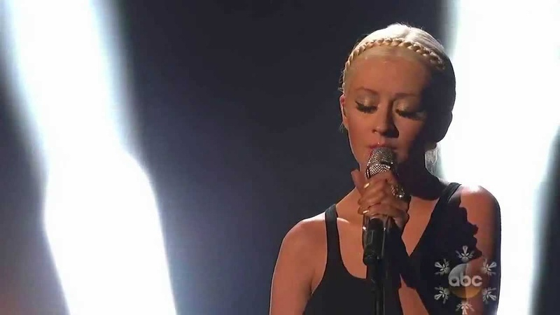 A Great Big World Christina Aguilera Belt Out a Powerful Rendition of Say Something at AMA 2013