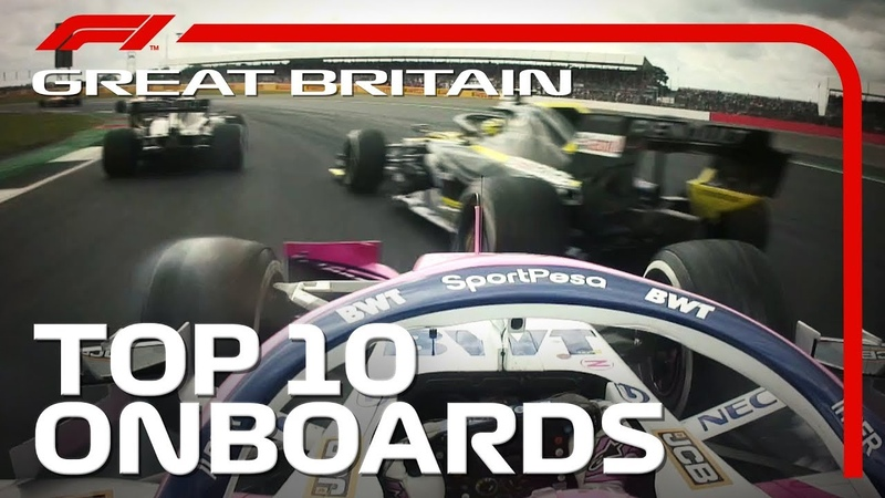 Dazzling Overtakes, Big Collisions And The Top 10 Onboards   2019 British Grand Prix