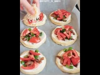 Шедевры кулинарии_мини пицца