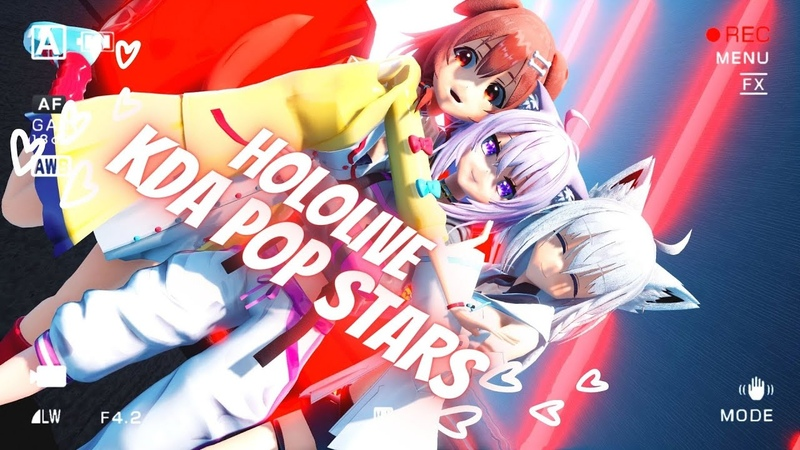 【MMD】「Hololive KDA Popstars Korone,Okayu,Fubuki 2K60FPS」