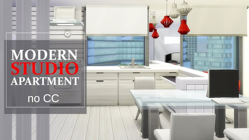 SMALL MODERN APARTMENT | NO CC | The Sims 4 Speed Build TOUR | 1310 21 Chic Street