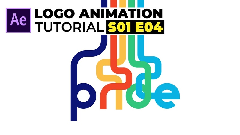 Pride Typography Logo Animation in After Effects Tutorial | Simple Logo Animation | S01 E04