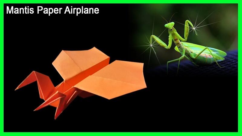 Cách gấp máy bay boomerang ver 62 hình con bọ ngựa | How to make a paper boomerang airplane mantis