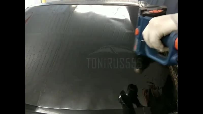 Тонировка лобового стекла на Honda Civik для @ dsm.d1mkaa американской 15% пленкой. В карусели - есть видео 🎥. Все подробности
