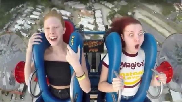 тарзанка реакция девушек · coub коуб