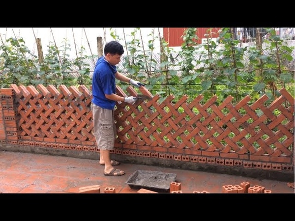Great Creative Construction Workers Made From Bricks And Cement Beautiful Brick Fences