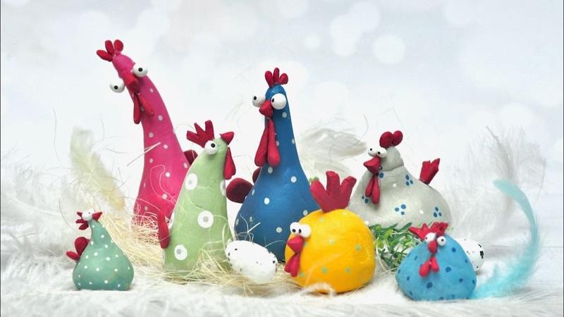 Wielkanocne kurczaczki z masy samoutwardzalnej - DIY tutorial