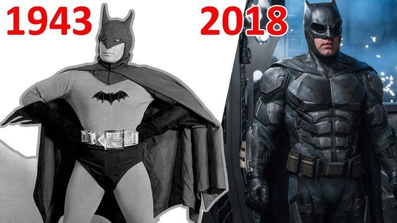 Эволюция Бэтмэна в кино и сериалах 1943 2018