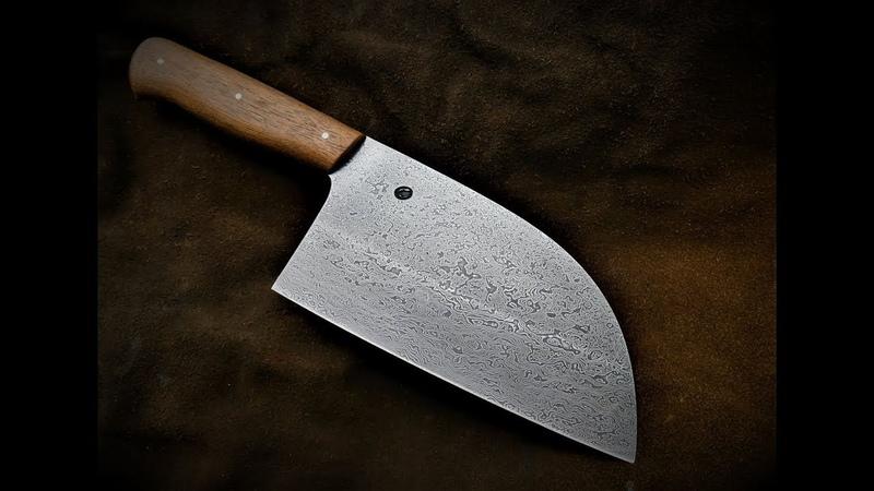 Making Almazan damascus kitchen couteau de cuisine d'Almazan en damas