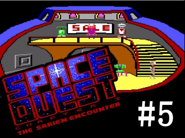 Девушка проходит SQ1 (ENG) Everyone wants to scam you, Roger Wilco Space Quest 1 (5) Lets Play Together