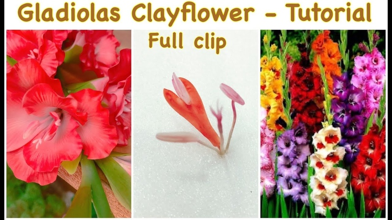 DIY How to Make Gladiolas Flower from Clay full clip
