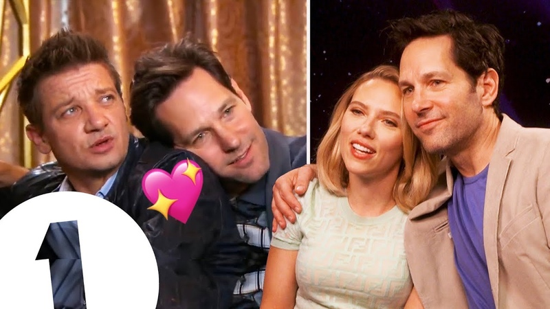 2019 Rudder Scarlett Johansson reacts to Paul Rudd and Jeremy Renner's Avengers Endgame Bromance