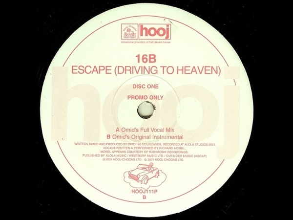 16B feat Morel Escape Driving to Heaven Omid's Full Vocal Mix