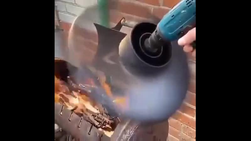 Как раскочегарить угли