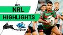 Rabbitohs v Sharks Match Highlights | Round 1 NRL 2020 | National Rugby League