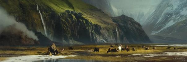 Stéphane Wootha Richard. Цифровые полотна француза действительно завораживают, они волшебные, глубокие, вдохновляющие и яркие. Очень радует гармоничная композиция и всегда удачный ракурс,