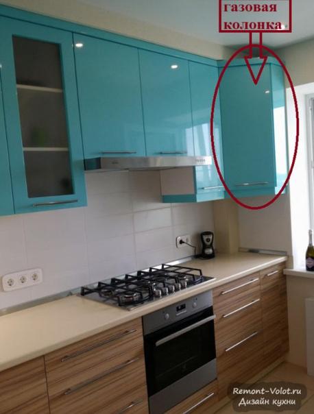 Как спрятать газовый баллон на кухне фото