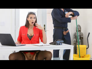 Bella Rolland - Gets The Janitor To Fuck Her Ass / Трахнулась на