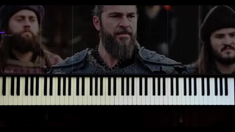 Diriliş Ertuğrul Acı Su Piano Tutorial by VN 662 X 1280 60fps mp4