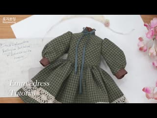 DIY doll one-piece dress  making blythe dolldress tutorial