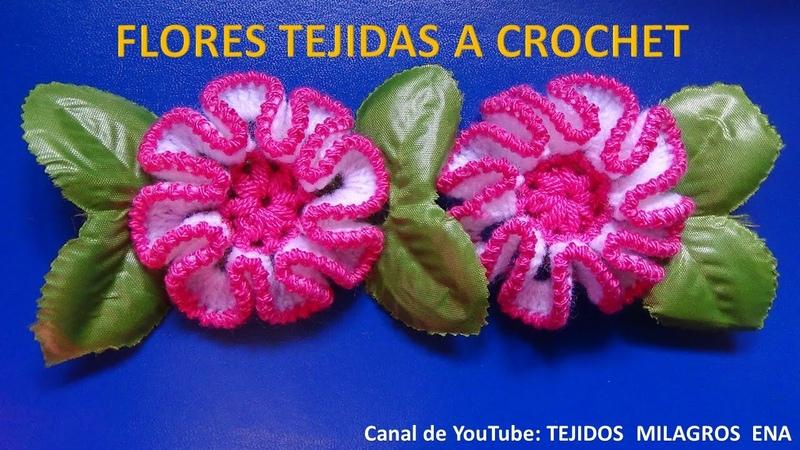 Flor tejida a crochet paso a paso para adorno de ponchos gorros y bolsos
