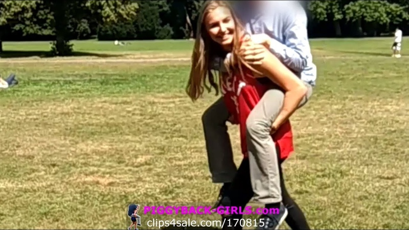 Piggyback Young girls strong enough to Lift and Carry you easily