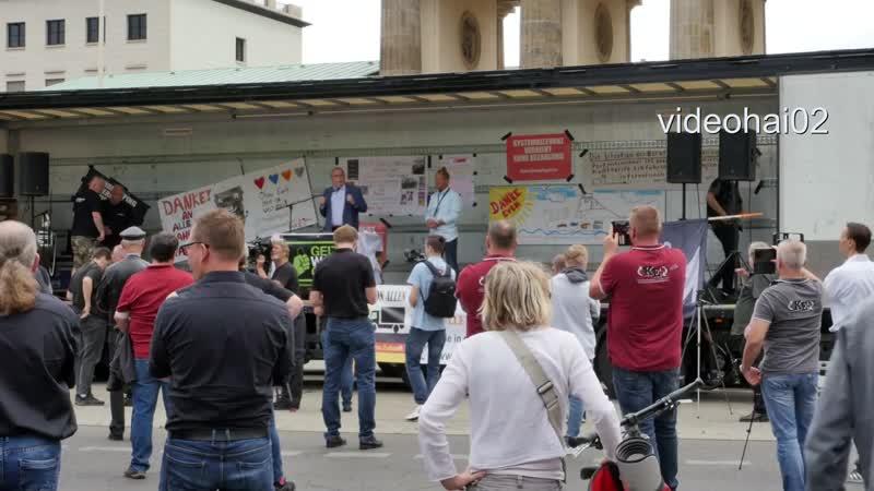 100 LKW 50 Traktoren demonstrieren in Berlin am Brandenburger Tor 19 6 2020