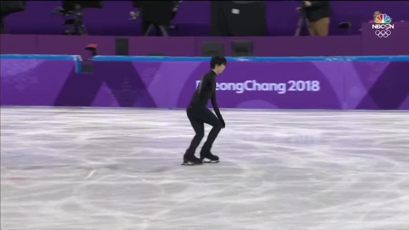 NBS Yuzuru Hanyu practice OG 14.02.2018