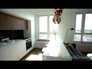 Обзор квартиры студии 34,6 кв.м. Дизайн интерьера в современном стиле для девушк