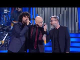 """Enrico Ruggeri, Francesco Renga e Marco Masini - """"Se telefonando"""" (cover di Mina) - Una storia da cantare (22/02/2020)"""