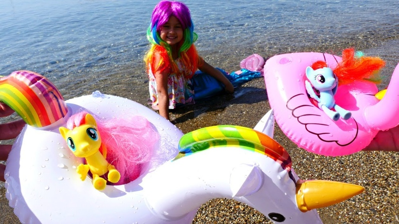 Selín y My Little Pony se concierten en sirenas Juguetes para niñas Vídeos para niños