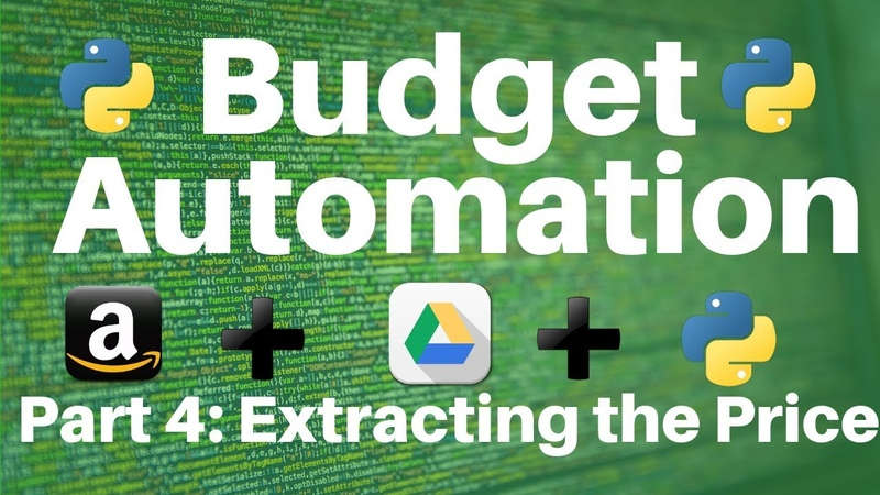 Budget Automation in Python Part 4 Extracting Amazon Product Information