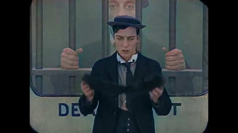 Buster Keaton (Laurel Hardy TV) THE GOAT COLOR KOLORIERT