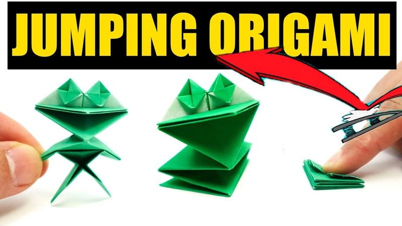 Easy Origami JUMPING Frog Yakomoga EASY Origami